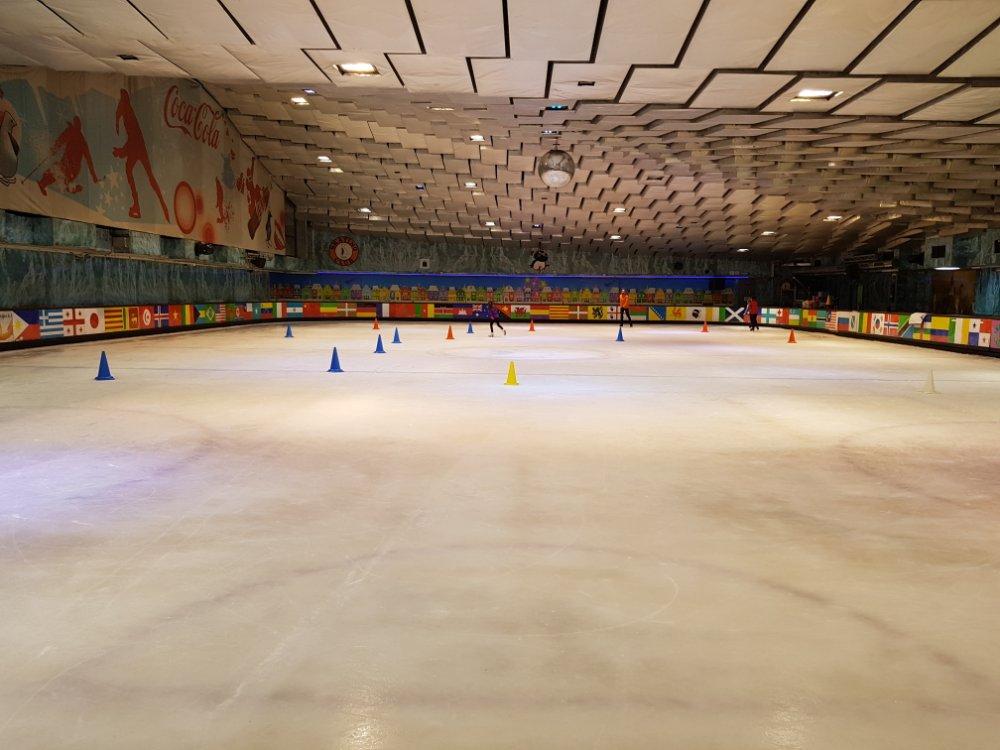 patinar sobre hielo en Barceloa